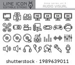 audio visual vector icon set....   Shutterstock .eps vector #1989639011