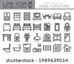home furniture vector icon set. ... | Shutterstock .eps vector #1989639014