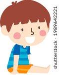 illustration of a kid boy... | Shutterstock .eps vector #1989642221