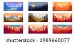 set of cartoon mountain... | Shutterstock .eps vector #1989660077