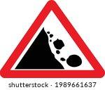 uk falling rocks or debris road ...   Shutterstock .eps vector #1989661637