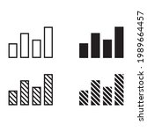 bar chart icon for apps and web ...   Shutterstock .eps vector #1989664457
