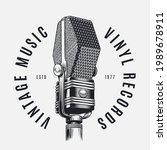 vintage ribbon studio... | Shutterstock .eps vector #1989678911