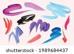 colorful vector watercolor...   Shutterstock .eps vector #1989684437