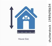 house size or measurement icon...   Shutterstock .eps vector #1989698654