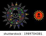 bright mesh net death sun...   Shutterstock .eps vector #1989704381