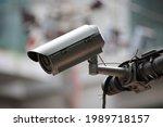 cctv or close circuit camera...   Shutterstock . vector #1989718157