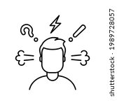 worried  confused  stressed ... | Shutterstock .eps vector #1989728057
