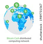 bitcoin cash cryptocurrency.... | Shutterstock .eps vector #1989731567