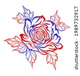 abstract rose flower vector on...   Shutterstock .eps vector #1989732917