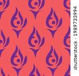 seamless geometrical damask...   Shutterstock .eps vector #1989733994