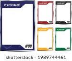 hockey player trading card... | Shutterstock .eps vector #1989744461