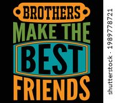 brother make the best friends ...   Shutterstock .eps vector #1989778721