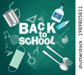 back to school text. for new... | Shutterstock .eps vector #1989805811