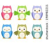 vector illustration of a set of ... | Shutterstock .eps vector #198982211