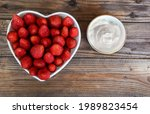 Fresh Strawberries On A Heart...