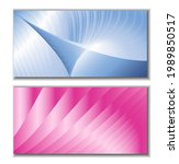 metallic blue and pink stripes  ... | Shutterstock .eps vector #1989850517