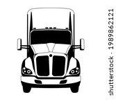 semi truck  vector illustration ...   Shutterstock .eps vector #1989862121