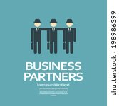 business partners or team... | Shutterstock .eps vector #198986399