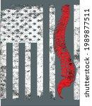 chiropractor american flag... | Shutterstock .eps vector #1989877511