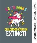childhood cancer awareness...   Shutterstock .eps vector #1989878291