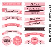 Ribbons Vintage Vector Set In...