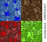 wallpaper of four squares in... | Shutterstock .eps vector #1989931427