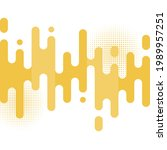 abstract yellow rounded lines... | Shutterstock .eps vector #1989957251