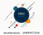abstract geometric circles and... | Shutterstock .eps vector #1989957254