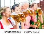 in beer garden   friends  man... | Shutterstock . vector #198997619