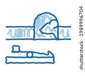 mousetrap sketch icon vector....