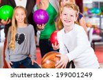 parents playing with children... | Shutterstock . vector #199001249
