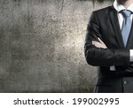 close up of businessman with... | Shutterstock . vector #199002995