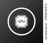 gpu icon. vector illustration...