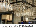 Clean Wine Glasses Hanging...