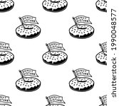donut disturb icon logo... | Shutterstock . vector #1990048577