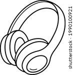 wireless computer headphones....   Shutterstock .eps vector #1990100921