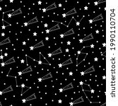 seamless pattern shooting star...   Shutterstock . vector #1990110704