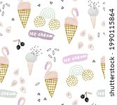 summer seamless pattern with... | Shutterstock .eps vector #1990115864