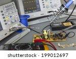 repairing faulty pulse source... | Shutterstock . vector #199012697