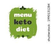 menu keto diet nutrition vector ...   Shutterstock .eps vector #1990131284