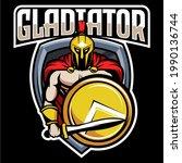 elements esports gladiator logo ... | Shutterstock .eps vector #1990136744