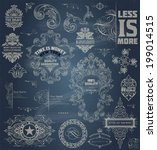 set of retro elements  baroque... | Shutterstock .eps vector #199014515
