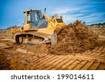 Excavator Working With Earth...