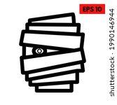 illustration of mummy line icon | Shutterstock .eps vector #1990146944