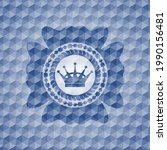 queen crown icon inside blue...   Shutterstock .eps vector #1990156481
