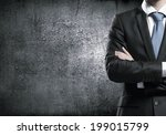 close up of businessman with... | Shutterstock . vector #199015799