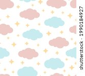 cute seamless pattern with...   Shutterstock .eps vector #1990184927