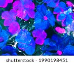 abstract blue and pink flowers  ...   Shutterstock . vector #1990198451