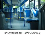 seat places in modern city bus | Shutterstock . vector #199020419